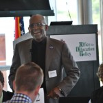 Keynote speaker, Caesar Mickens of Jobs for the Future, speaking on JFF's Early College High School model