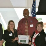 Jacksonville High School accepting OEP Award: Most Improved Middle School in Algebra